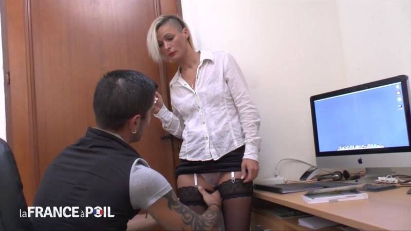 LaFRANCEaPoil.com/NudeInFRANCE.com: The small titted teacher in stockings is a real good cougar - MILF [HD] (473 MB)
