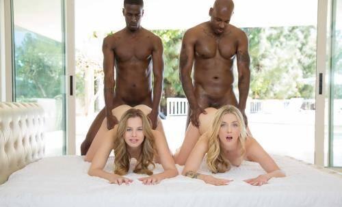 Interracial Foursome for Two Beautiful Blonde Girls - Jillian Janson, Karla Kush (SiteRip/Blacked/SD480p)