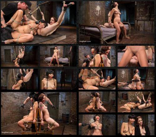 2 Whores in Predicament Bondage, Tormented and Made to Lick Pussy - The Pope, Marica Hase, Anna De Ville [SD, 400p] [Hogtied.com] - BDSM