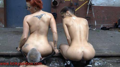 KinkySexBox.com/FemdomUncut.com [Lady Anna Solis and Princess Rachel ass licking Outdoor] FullHD, 1080p)