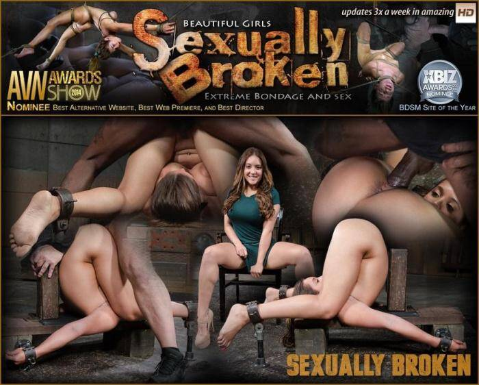SexuallyBroken.com - Big breasted Jean Michaels folded in half in strict piledriver and roughly fucked by massive BBC! (BDSM) [SD, 360p]