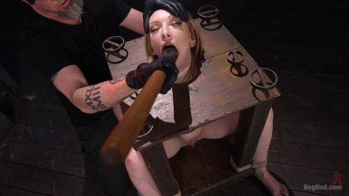 Brand New Red Head in Brutal Bondage, Suffering, and Made to Cum [HD, 720p] [Hogtied.com] - BDSM