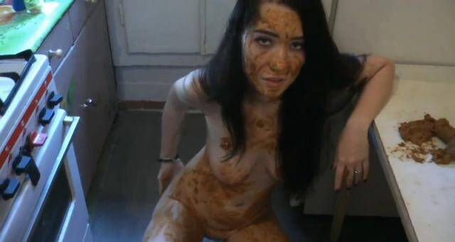 Scat Porn - Rus Girl - Matilda's Kitchen and Bathroom Scat Destruction. Part 1 [FullHD, 1080p]