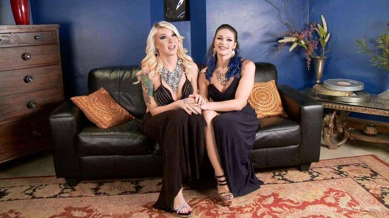 Aubrey Kate and Kiki Sweet - Kiki Sweet gets a TS surprise at a elegant dinner party [SD] - TSPussyHunters, Kink