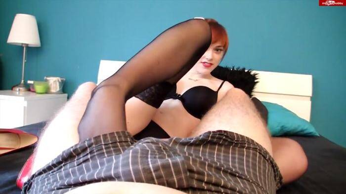 Aurora - Sex plus Footjob in Nylons [HD, 720p] - Сrazy Dirty Sex