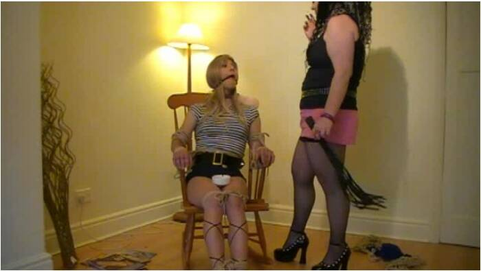 TvTied.com/Trussedup.com - Mistress Girls - Holly Fem Dom Chairtied Ellie  [SD 480]