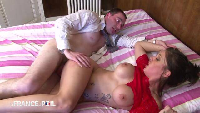 NudeInFRANCE, LaFRANCEaPoil - Hot brunette whore wraps huge tits around cock - TEEN [HD, 720p]