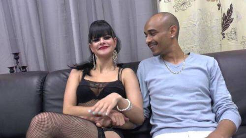 LFaP [Casting couch Naughty dark haired slut in fishnet stockings hard double penetrated and jizzed] HD, 720p)