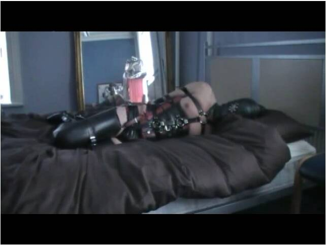 TvTied.com/Trussedup.com - Mistress Girls - Rubber Girl Harnessed And Hogtied  [SD 480]