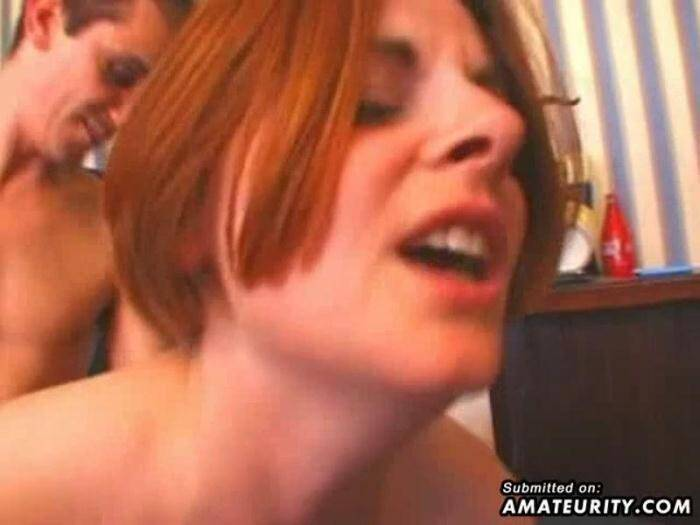 Amateurity.com - Two busty amateur girlfriend play with 2 dicks (Amateur) [SD, 480p]