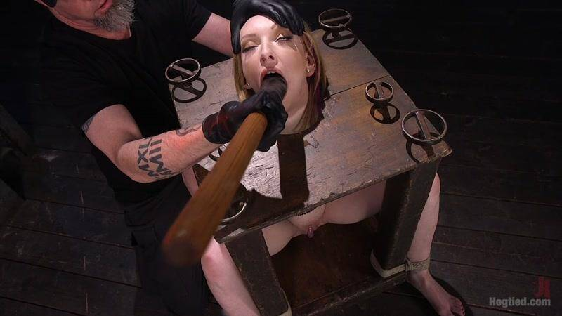 Hog Tied, Kink - Katy Kiss in BDSM Porn: Brand New Red Head in Brutal Bondage, Suffering, and Made to Cum [HD]