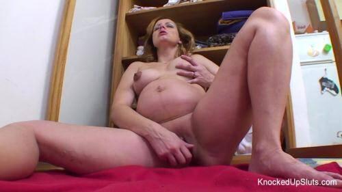 KnockedUpSluts.com [Hana Rabatinova - Pregnant Masturbation] HD, 720p)