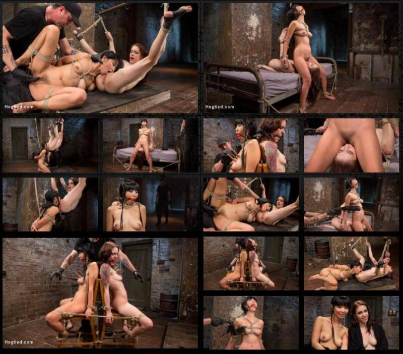 2 Whores in Predicament Bondage, Tormented and Made to Lick Pussy - The Pope, Marica Hase, Anna De Ville [SD] - Hogtied