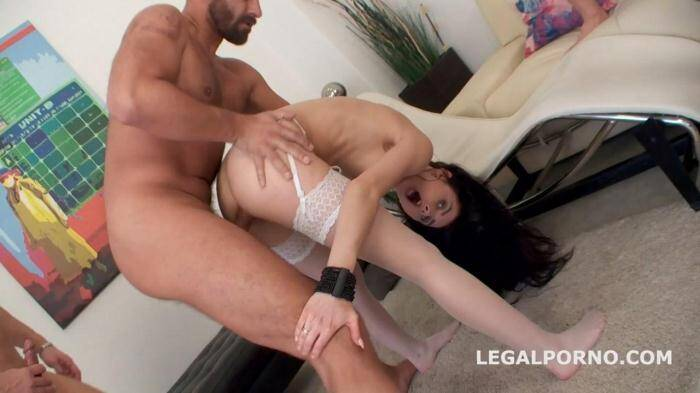 L3g4lP0rn0.com - My Very first TAP - Crystal Greenvelle 5 on 1 - DAP, ball deep ass fucking, no pussy version, bonus DP - GIO160 (Group sex) [SD, 480p]