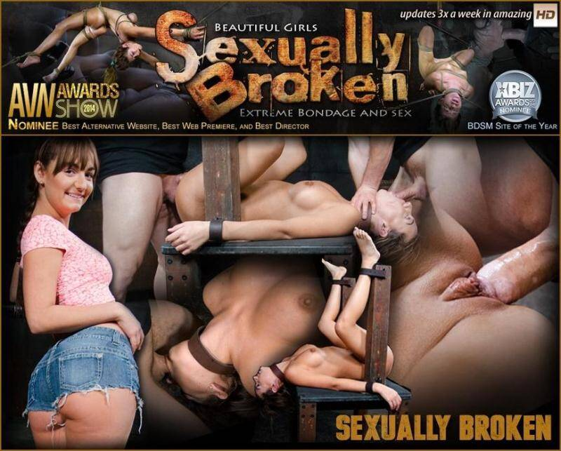 Big butt brunette Charlotte Cross bound down and roughly fucked with tag team dick down! [SD] - SexuallyBroken