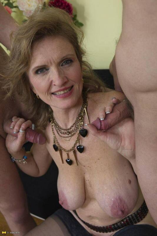 Raina W. (50) - Granny in Group sex with two boys [SD] - Mature.nl