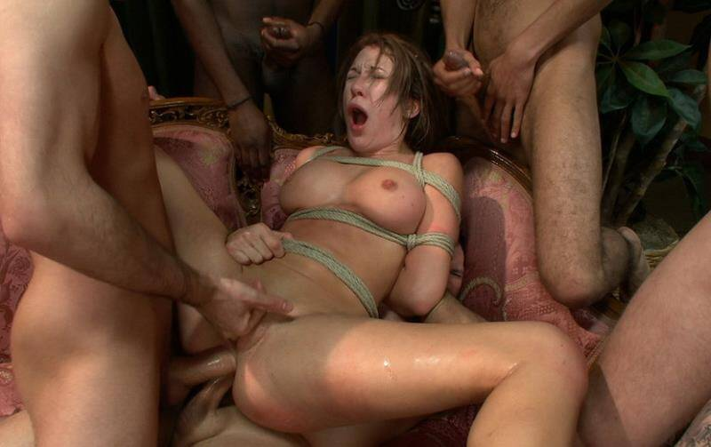 BoundGangBangs - Amy Brooke - Fantasy Fufillment Service - Beautiful Law Student Pays Big Money for Gang Bang Fantasy [2011 HD]