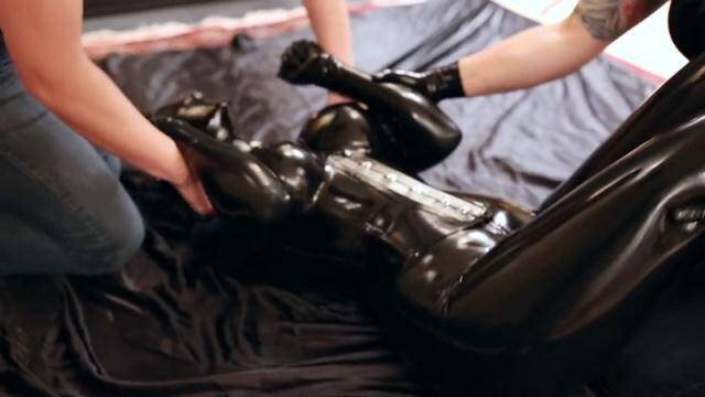 ReflectiveDesire - Restrained in rubber and tickled until it screams [HD, 720p]