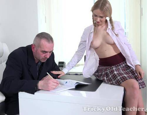 Trisha gets an A + by sucking and fucking her tricky old teacher - Tisha aka Arteya (SiteRip/TrickyOldTeacher/HD720p)