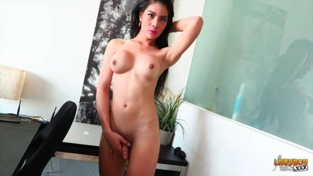 Ladyboy.xxx - Stunning Anna Strokes Her Sexy Cock [HD, 720p]