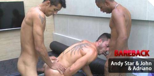 Andy Star & John & Adriano - Anal Sex [HD, 720p] [MeninosOnLine.net] - Gay