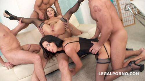 LegalPorno.com [Double Addicted with Anal Fisting. July Sun and Dominica DP, DAP challenge. Ball Deep Anal, Atm, Farts, Spitting Facial GIO165] SD, 480p)