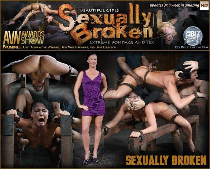 SexuallyBroken.com - Flexible London River bound and split in half by giant cock with drooling massive orgasms! (BDSM) [SD, 360p]