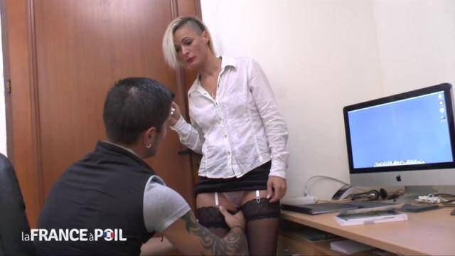 NudeInFRANCE, LaFRANCEaPoil - The small titted teacher in stockings is a real good cougar - MILF [HD, 720p]