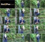 G2P - Young Girl - Tight blue denims - Outdoor (Pissing) [FullHD, 1080p]