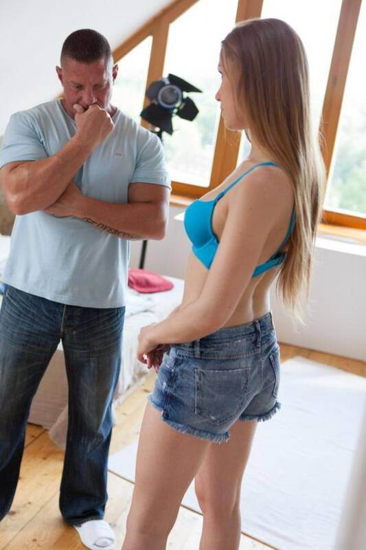Naughty Album - Alexis Crystal - Blonde slut Alexis Crystal sucking cock during a photo shoot  [SD 480p]