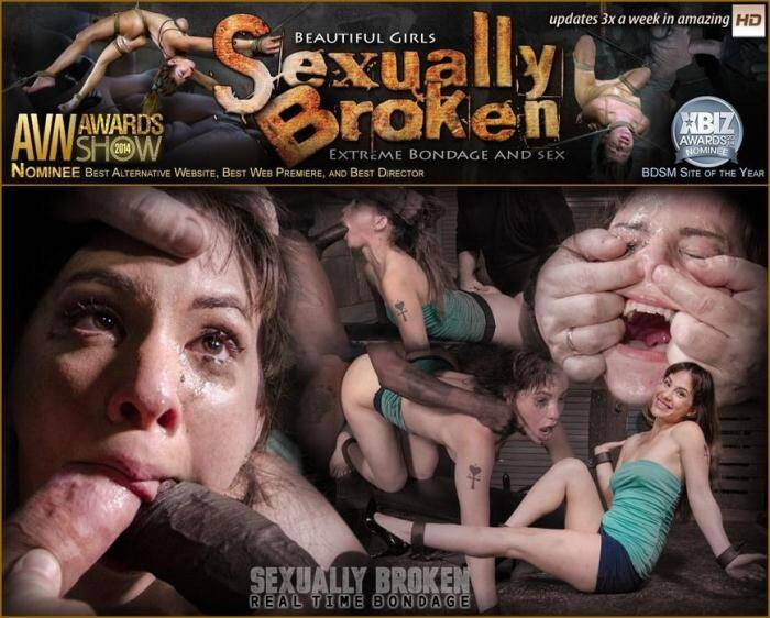 SexuallyBroken.com/RealTimeBondage.com - Messy little Devilynne trained on fuckboard by BBC as she melts into a drooling cumslut! (BDSM) [SD, 360p]