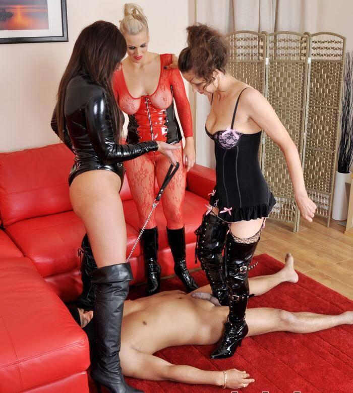 Femme Film - Goddess Aphrodite, Mistress B, Mistress Carly - Kicked to Cum  [SD 368p]