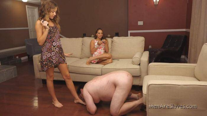 MenAreSlaves.com - Princess Sara and Princess Kendall - Shocking Is Good (Femdom) [HD, 720p]