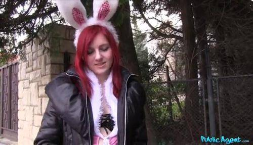 Public [Snow - Hot Easter bunny girl fucked outside] SD, 368p)