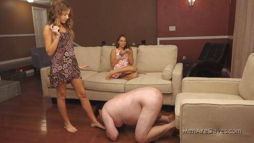 MenAreSlaves.com [Princess Sara and Princess Kendall - Shocking Is Good] HD, 720p)