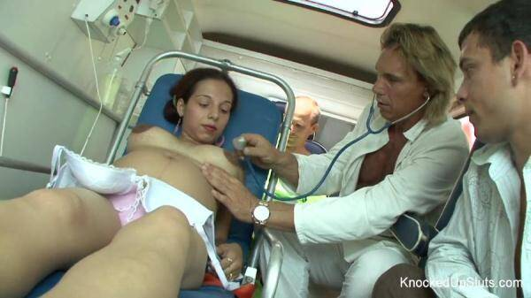 KnockedUpSluts.com: Renata Kirsch - Fucking Pregnant in the ambulance (04.03.2016/HD)