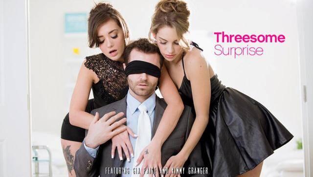 EroticaX - Kimmy Granger, Gia Paige - Hot Threesome Surprise [SD, 400p]