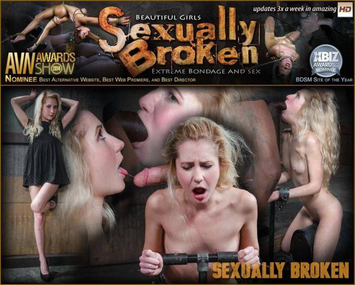 SexuallyBroken.com - All natural spinner Odette Delacroix deepthroats huge cock as she is bound into a sybian (BDSM) [SD, 360p]