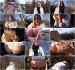 Public Sex - Euro Babe Rides Dick Outdoors [SD, 480p]