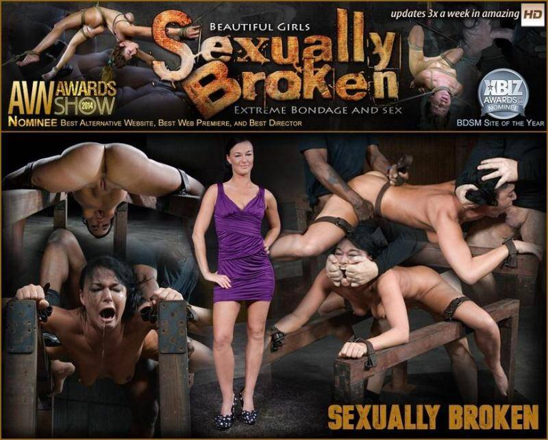 SexuallyBroken.com: Flexible London River bound and split in half by giant cock with drooling massive orgasms! [SD] (106 MB)