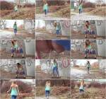 Teen Girl - Blue Leggings Waterfall (G2P) FullHD 1080p