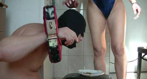 Scat [Head and hands secured by Mistress - FEMDOM SCAT] FullHD, 1080p)