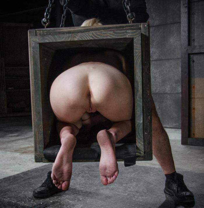 SexuallyBroken.com - Odette Delacroix - Tiny blonde Odette Delacroix bound inside a box and roughly fucked from both ends by cock!   [HD 720p]