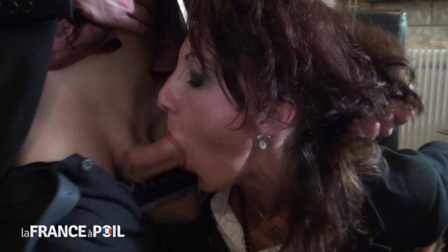 NudeInFRANCE, LaFRANCEaPoil - Horny big titted CEO cougar gets her ass pounded and her pussy fisted by her employee [HD, 720p]