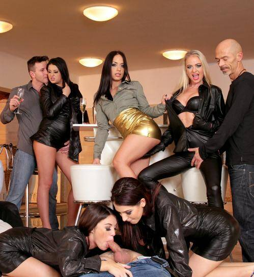 SDrive - Tiffany Doll, Meg Magic, Coco de Mal,  Dorina Golden, Bella Beretta, Nomi Melone  [Horny House Warming Party] (HD 720p)