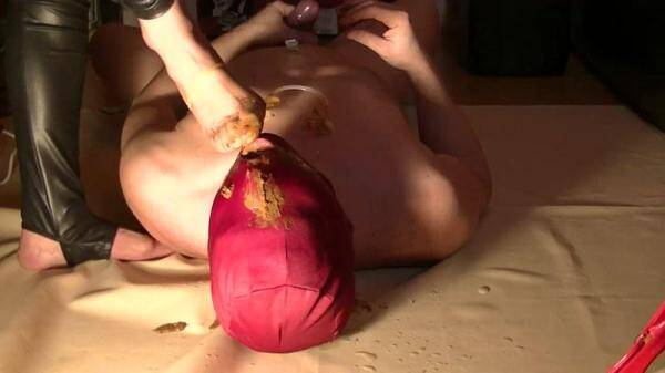 Mistress Diana takes a dump in her slave's mouth - Femdom Scat (FullHD 1080p)