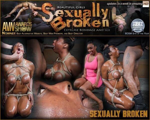 Lisa Tiffian - Oiled down Lisa Tiffian worships two big cocks with drooling deepthroat, strict rope bondage! [SexuallyBroken.com] [HD] [861 MB]