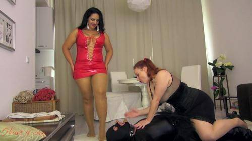 Mistress Ezada and Lady Yna - Doormat for us [HD, 720p] [MistressEzada.com] - Femdom