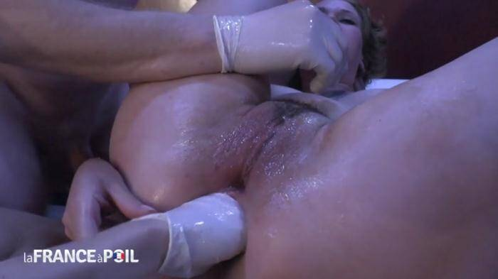 NudeInFRANCE.com/LaFRANCEaPoil.com - Horny 19 yo brunette gets hard analized and double penetrated and fist fucked (French) [HD, 720p]