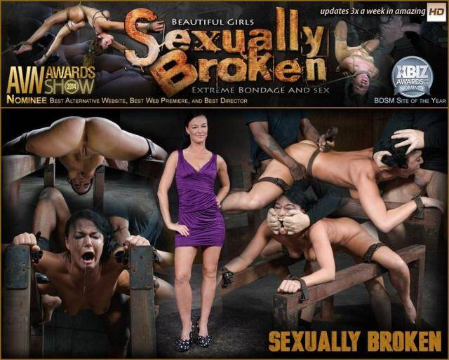 SexuallyBroken - Flexible London River bound and split in half by giant cock with drooling massive orgasms! [SD, 360p]